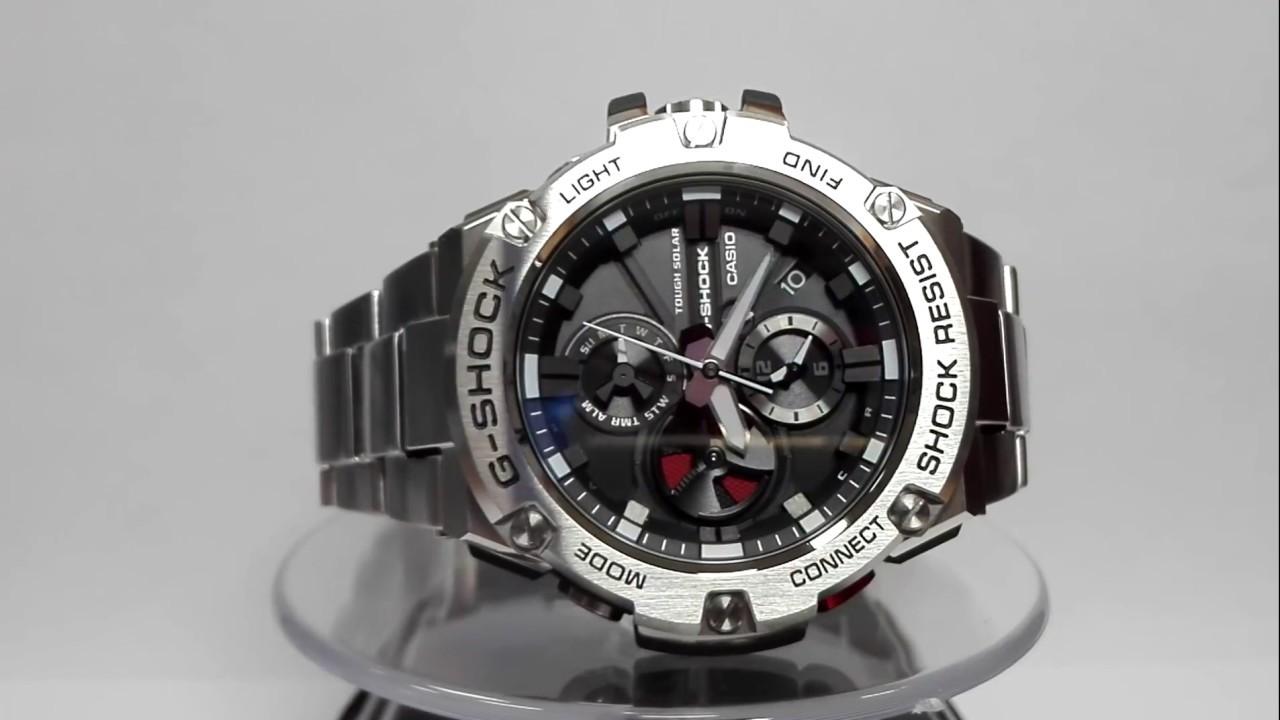 2e4838062c98e Casio G-Shock GST-B100D-1AER Bluetooth Solar watch video 2017 - YouTube