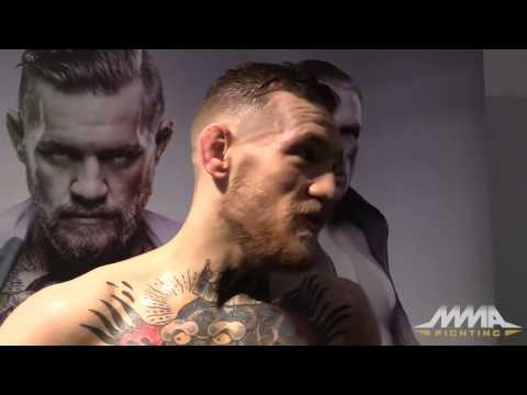 Conor McGregor UFC Fight Night 59 pre-fight scrum
