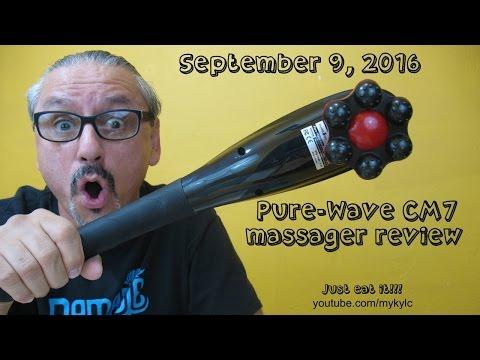 Pure-Wave CM7 massager review!  No, I don't eat it!!!