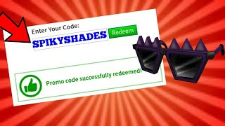 *NEW* SPIKY CREEPY SHADES PROMOCODE IN ROBLOX!
