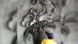 Tranh xi măng đắp nổi, phù điêu| Making beautiful paintings made of cement and sand
