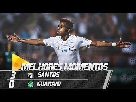 Santos 3 x 0 Guarani | MELHORES MOMENTOS | Paulistão (18/02/19)