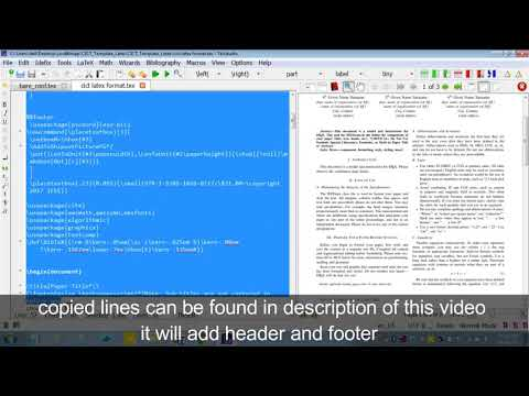 Insert Header Footer in LaTex for IEEE Camera Ready Manuscript - YouTube