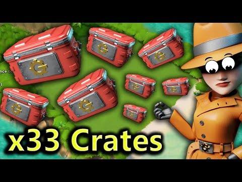 x33 Trader Crates Opening! SO MUCH LOOT! Boom Beach