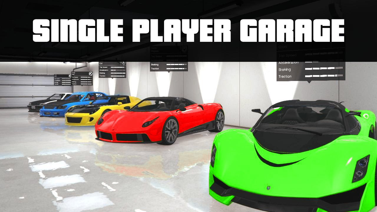 Single Player Garage Mod Store 100 S Of Vehicles Gta