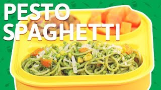 Spaghetti Pasta Recipe   Cheese Vegetable Pasta With Pesto Sauce   Pasta Recipe For Kids