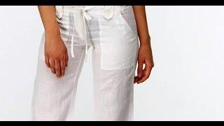 видео Женские брюки из винтажного льна