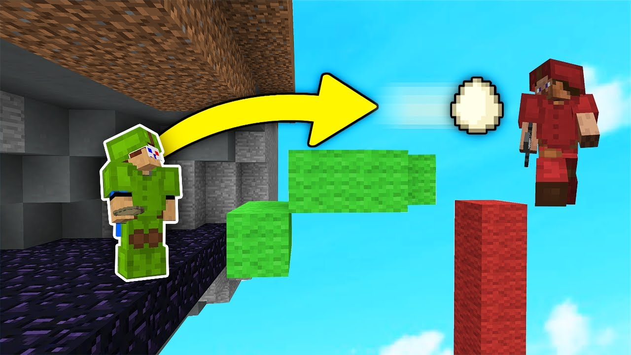 Using BRIDGE EGGS as a Projectile in Bedwars