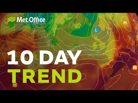 10 Day Trend – low pressure arrives but will it stay for long?