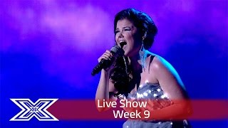 saara aalto lights up the stage with sias chandelier semi final the x factor uk 2016