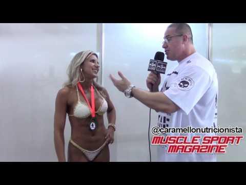 Adriana Rodrigues Toned na Expo Fitness MS  - Caramello nutricionista