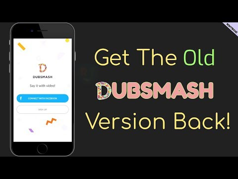 How To Get The Old Dubsmash Update Back | Downgrade Your Dubsmash App | TUTORIAL |