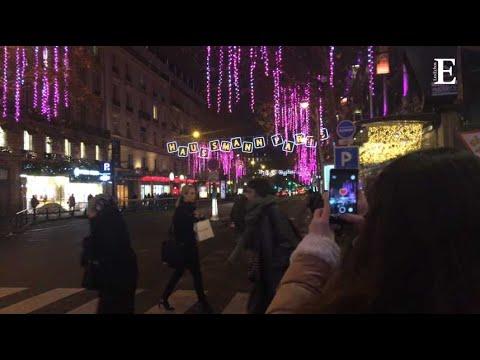 A Paris, des illuminations de Noël interactives