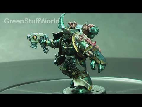 Chameleon Paints 14 - Painting example of a Nurgle Space Marine