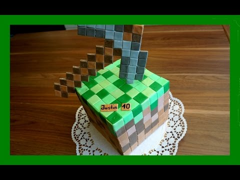 Minecraft kuchen minecraft torte im minecraft stil for Youtube kuchen
