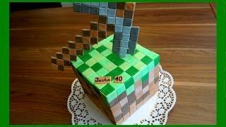 Minecraft Kuchen - Minecraft - Torte im Minecraft Stil - Tutorial - von Kuchenfee