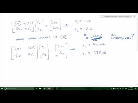 Matrix Condition Number and Matrix Norms - Well conditioned or Ill conditioned (Numerical Methods)