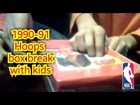 1990-91 NBA Hoops box break with my Kids