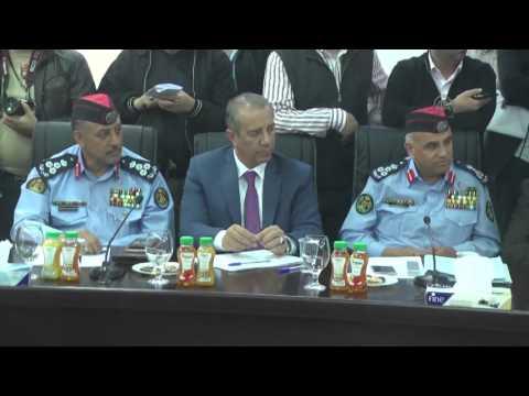 Jordan's Interior Minister Hammad holds press conference in Amman