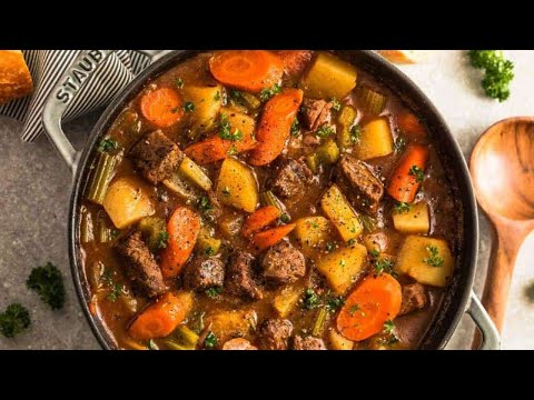 EASY HOMEMADE BEEF STEW RECIPE   COME COOK WITH US ! thumbnail