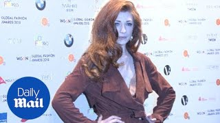 Nicola Roberts stylish in belted coat dress at fashion awards - Daily Mail