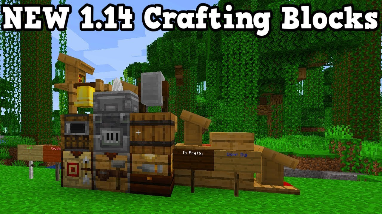 minecraft preview new crafting blocks mystery youtube. Black Bedroom Furniture Sets. Home Design Ideas
