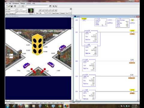 hqdefault logixpro simulation my traffic light (six lights ladder logic diagram solution)