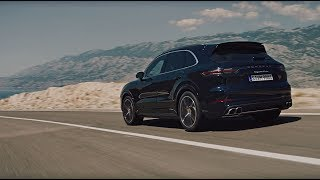 The new Porsche Cayenne Turbo in motion. thumbnail