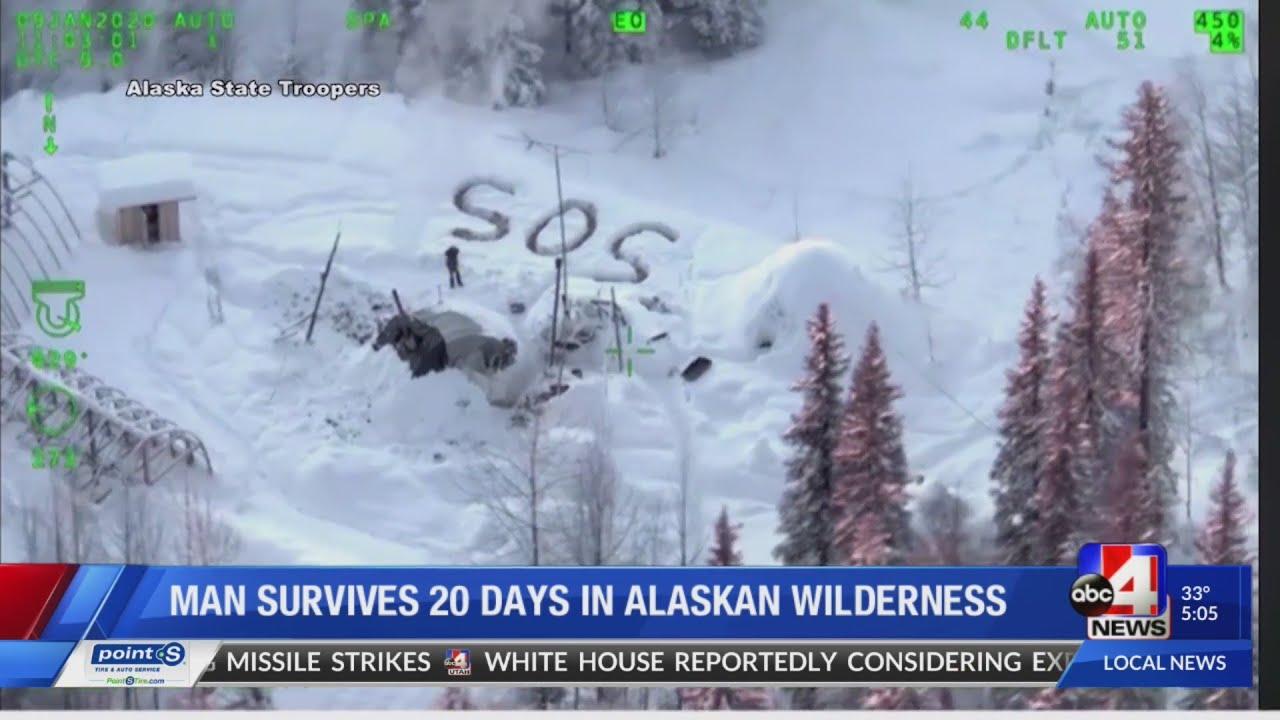 Utah man survives 23 days in Alaska wilderness
