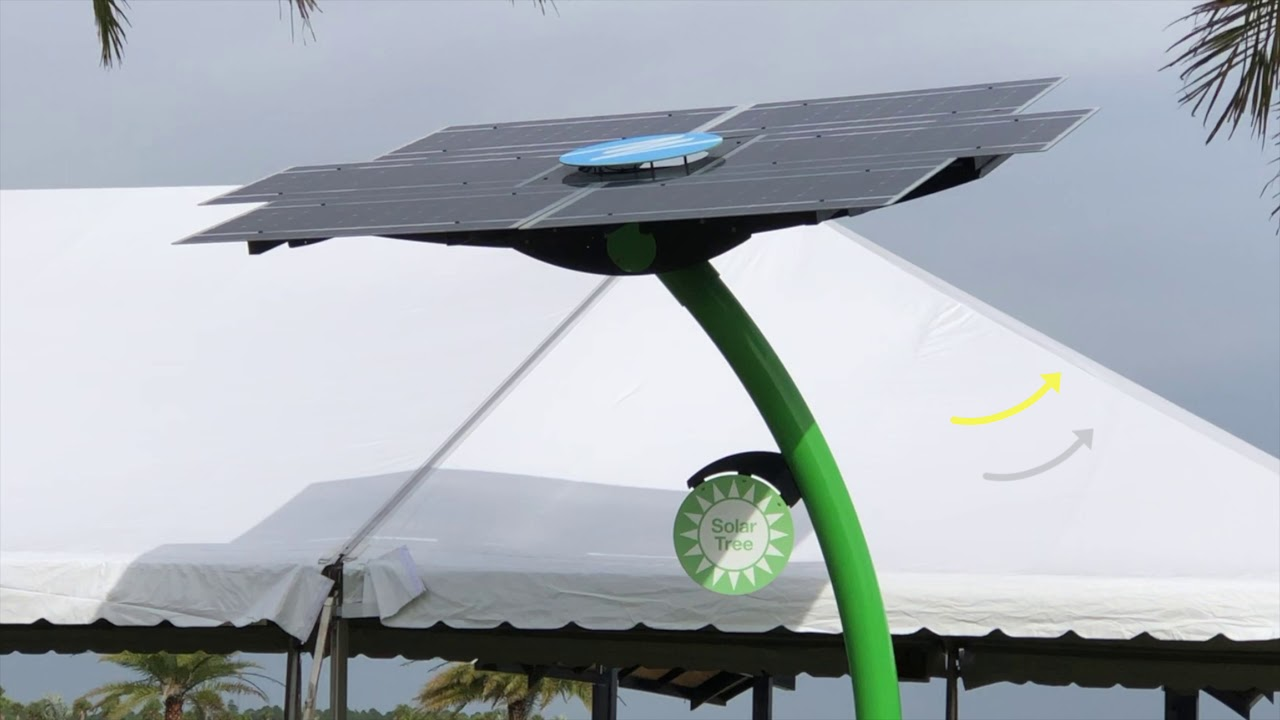 """Solar Tree - """"Green Cities"""" are using at their public space."""