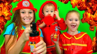 Firefighters Song for Kids - Fire Trucks Rescue Team | Kids Songs by Eva Surprise