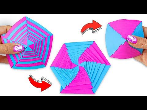 Яркая бумажная игрушка Антистресс трансформер | Поделки из бумаги |Оригами без клея