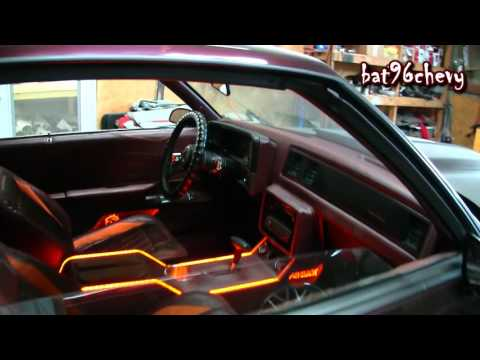 "STITCHED BY SLICK: '87 Monte Carlo SS on 24"" DUB 2pc. Wheels, ORANGE/BURGUNDY Interior - 1080p HD"