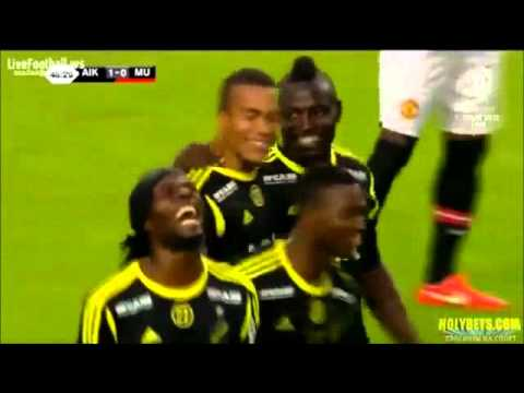AIK vs Manchester United - All the Goals and Highlights (w/english commentary)