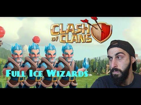 Clash Of Clans Greek~Full Ice Wizard~By Bodrni