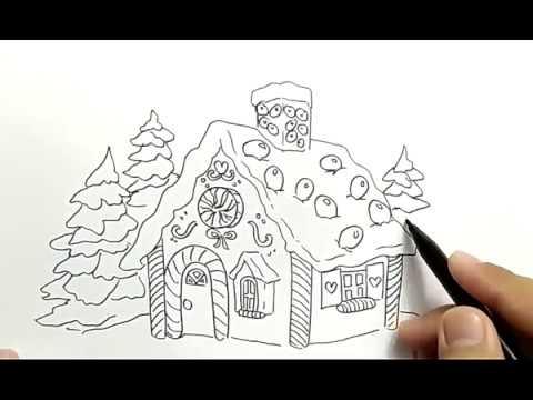 Cara Menggambar Rumah Permen Dan Kue Dengan Gampang Sekali How