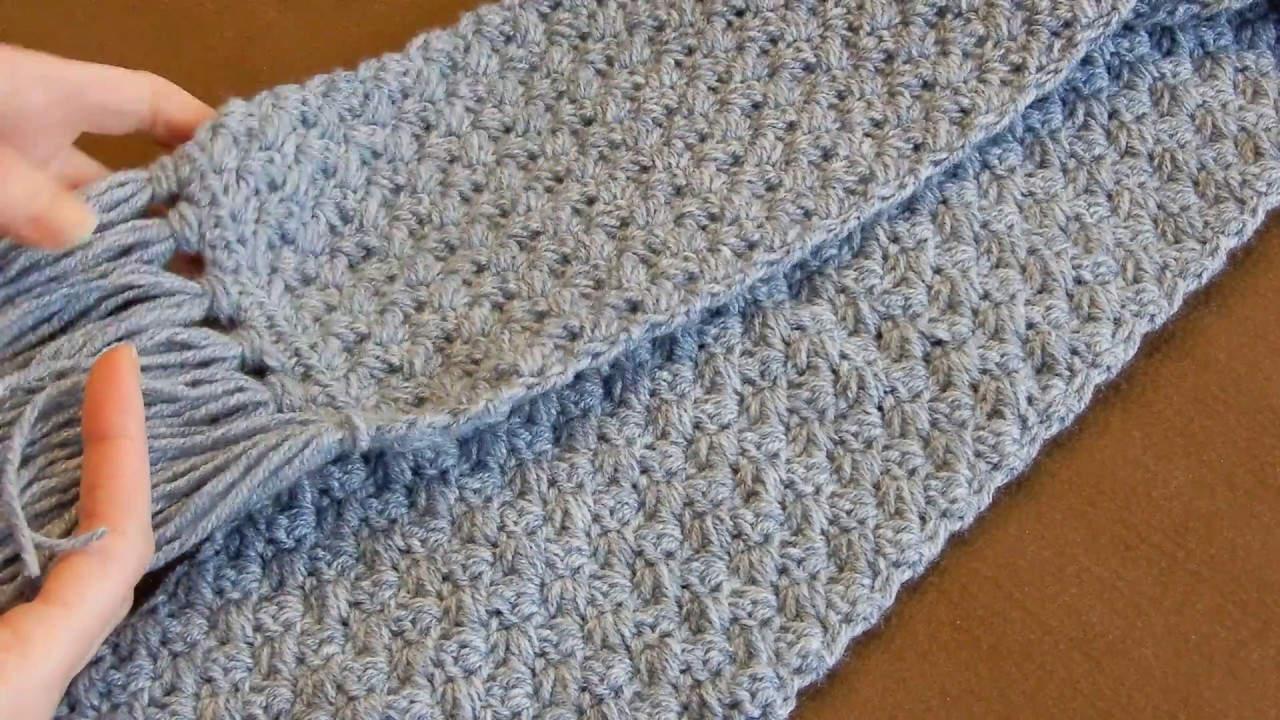 Crochet Scarf Tutorial 2018   Easy Elegant And Simple ...
