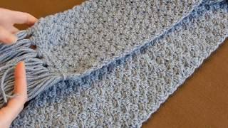 Crochet Scarf Tutorial #1   Easy Elegant And Simple   Beginner Level