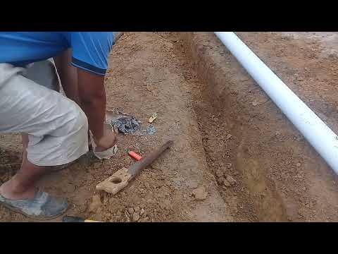 making of drain pipe line part 4 . bury