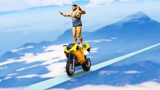EXTREMELY IMPOSSIBLE BIKE RACE! (GTA 5 Funny Moments)