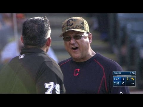 TEX@CLE: Francona gets ejected by home-plate umpire