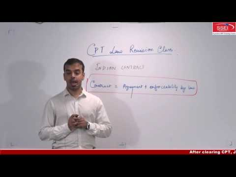 SSEI : CA CPT Law Revision Class by CA CS IFRS Soumyadipta Das Sir - Revision Part 1