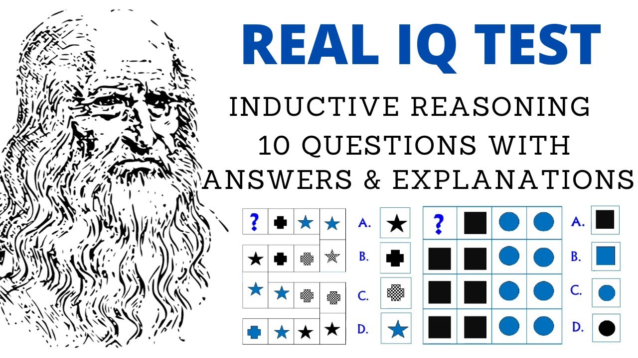 Real IQ TEST - 10 Inductive reasoning questions with ...
