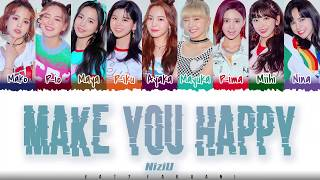 Download NiziU – 'MAKE YOU HAPPY' Lyrics [Color Coded_Kan_Rom_Eng] Mp3 and Videos