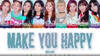 Gambar cover NiziU – 'MAKE YOU HAPPY' Lyrics [Color Coded_Kan_Rom_Eng]