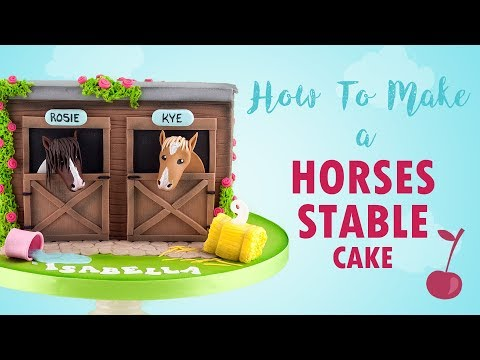 Horse Stable Cake Tutorial | How To | Cherry School