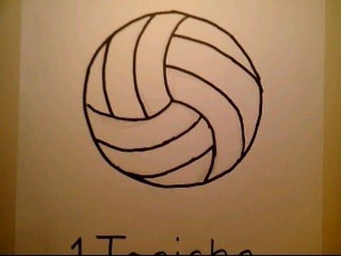 How To Draw A Volleyball como dibujar una pelota de voleibol net ...