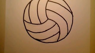 How To Draw A Volleyball como dibujar una pelota de voleibol net player beach ball