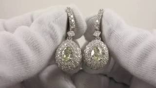 Эксклюзивные серьги Parure с бриллиантами огранки