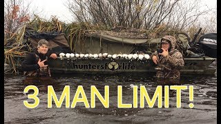 3 MAN LIMIT In 1 HOUR   Diver Duck Hunting
